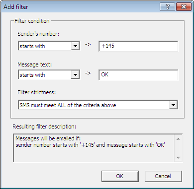 Add filter conditions